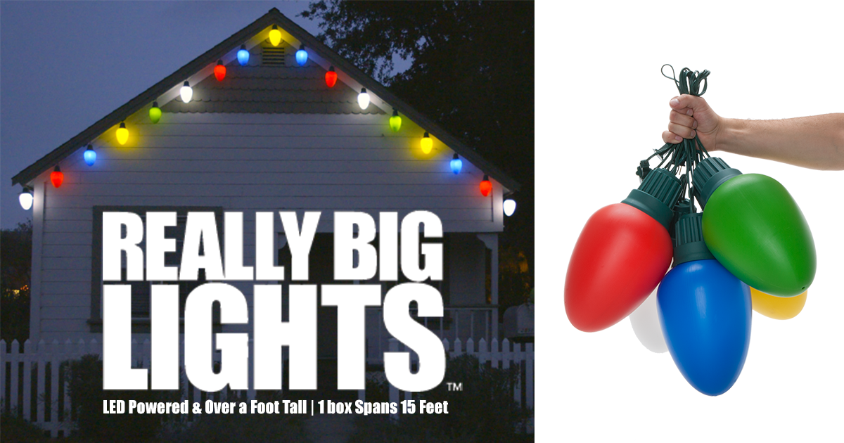 i founded really big lights in an effort to inspire americans to decorate their houses this year in a way only paralled by the griswold family christmas